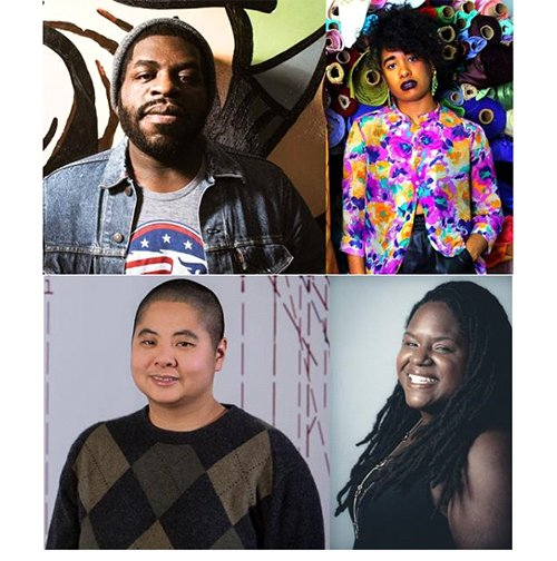 Hanif Willis-Abdurraqib, Aziza Barnes, Ching-In Chen, and DéLana R. A. Dameron