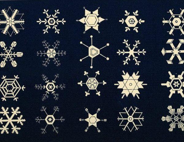 Snowflakes, Public Domain review