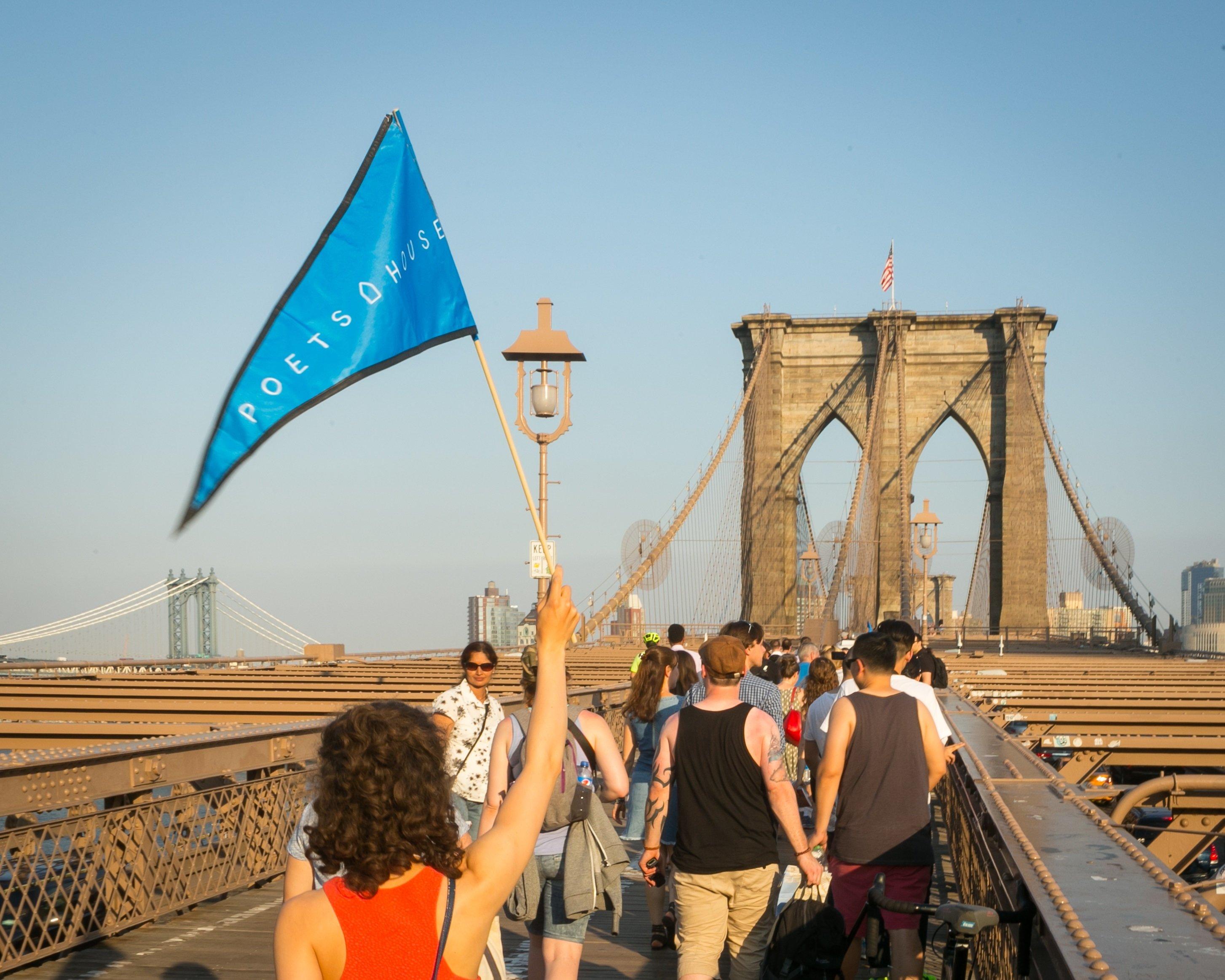 Poetry Walk Across the Brooklyn Bridge