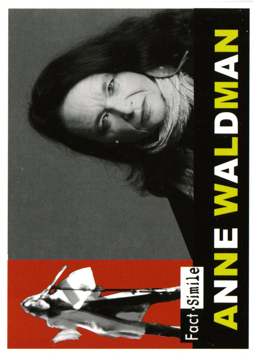 Anne Waldman Fact-Simile Poet Trading Card front
