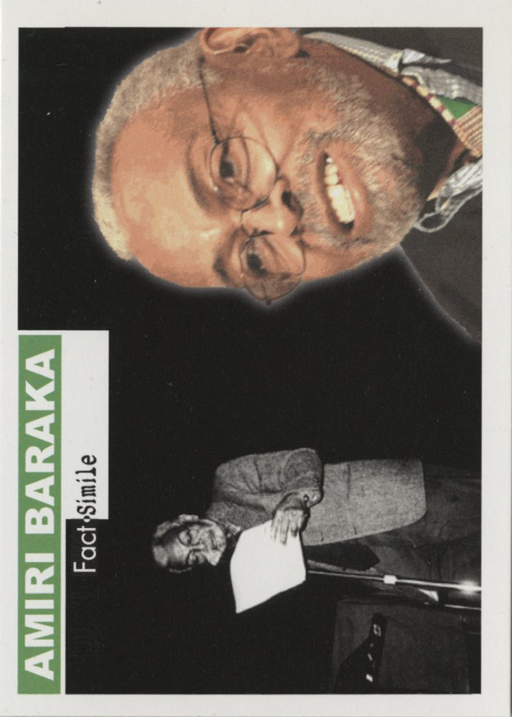 Amiri Baraka, Fact-Simile Editions (2011)