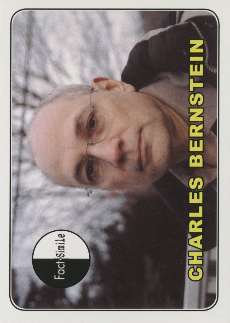 Charles Bernstein, Fact-Simile Editions (2011)