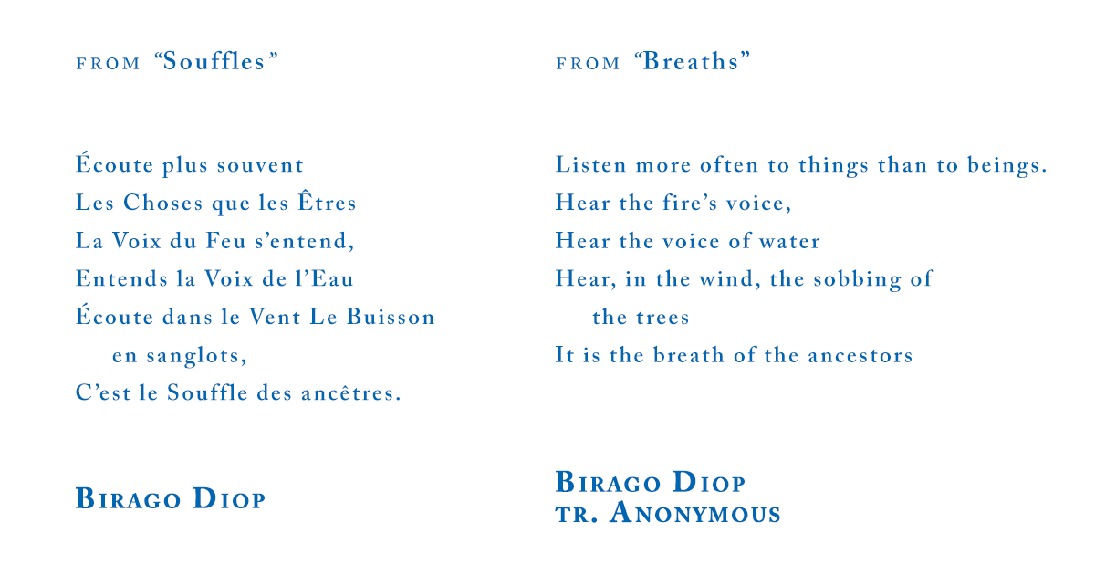 "Birago Diop from ""Breaths"""