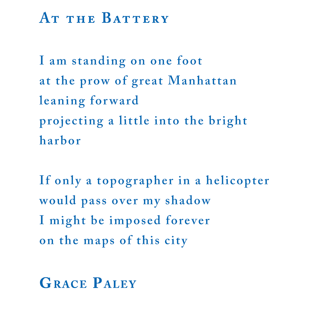 """Grace Paley, """"At The Battery"""""""