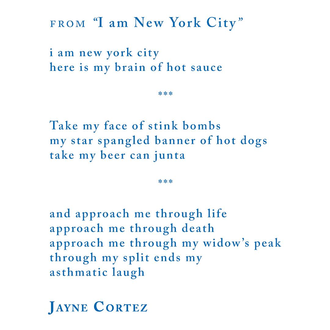 "Jayne Cortez from ""I am New York City"""