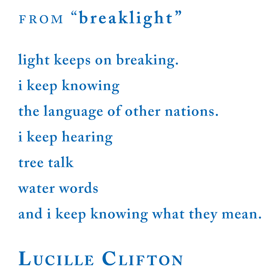 Lucille Clifton, from breaklight