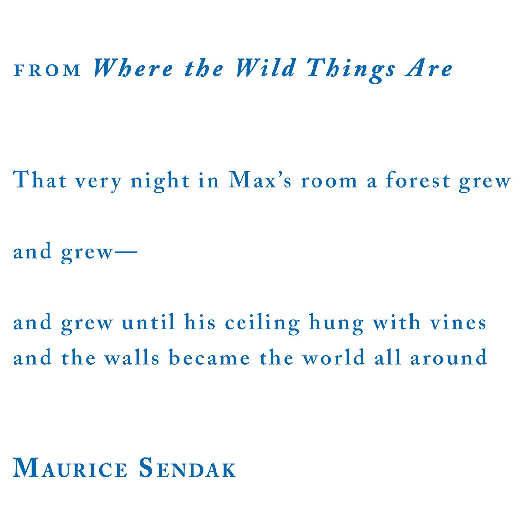 """Maurice Sendak, from """"Where the Wild Things Are"""""""