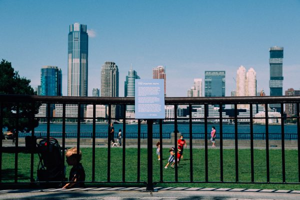 Welcome to the Poetry Path in Battery Park City! Photo by Daniel Terna.