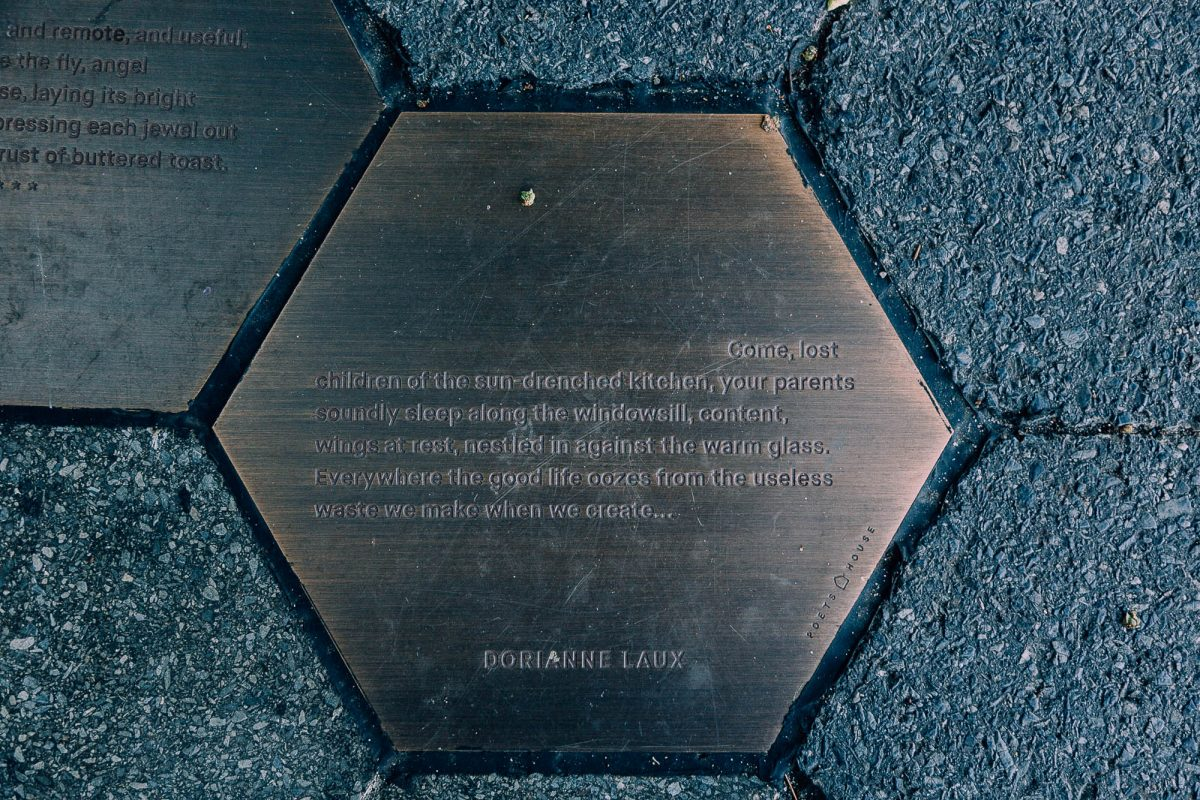 """Dorianne Laux, excerpt from """"Life is Beautiful"""" on location in Battery Park City"""