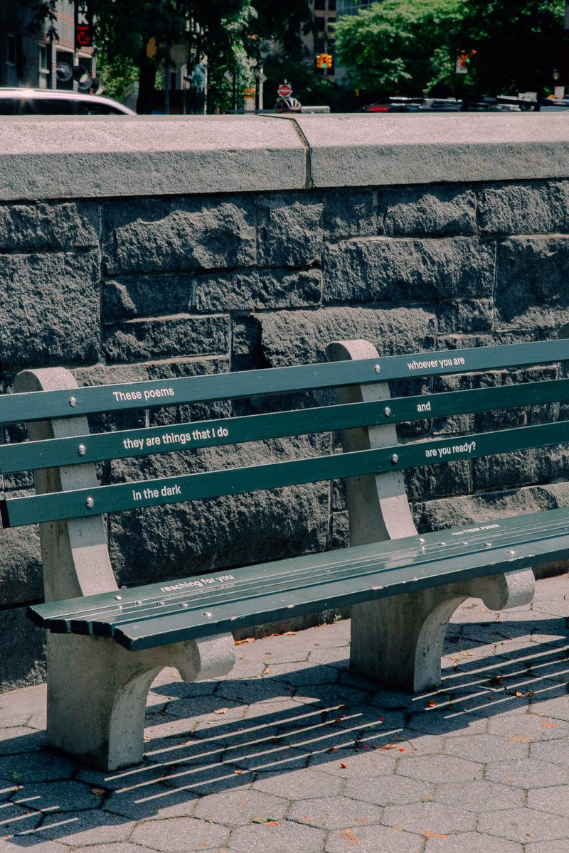 """Photo by Daniel Terna. June Jordan from """"These Poems"""" on location in Battery Park City.png"""