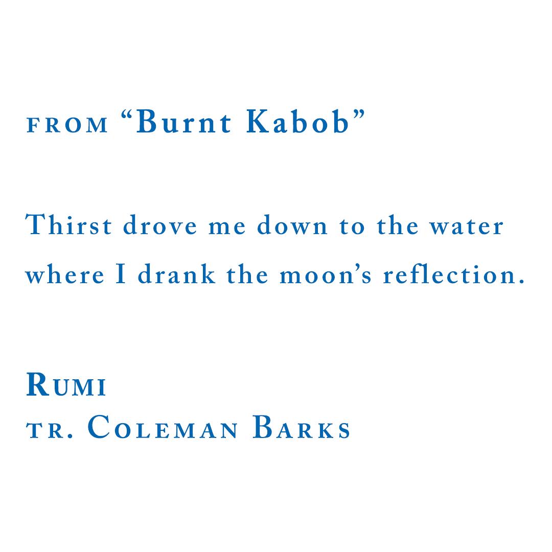 "Rumi, from ""Burnt Kabob"""