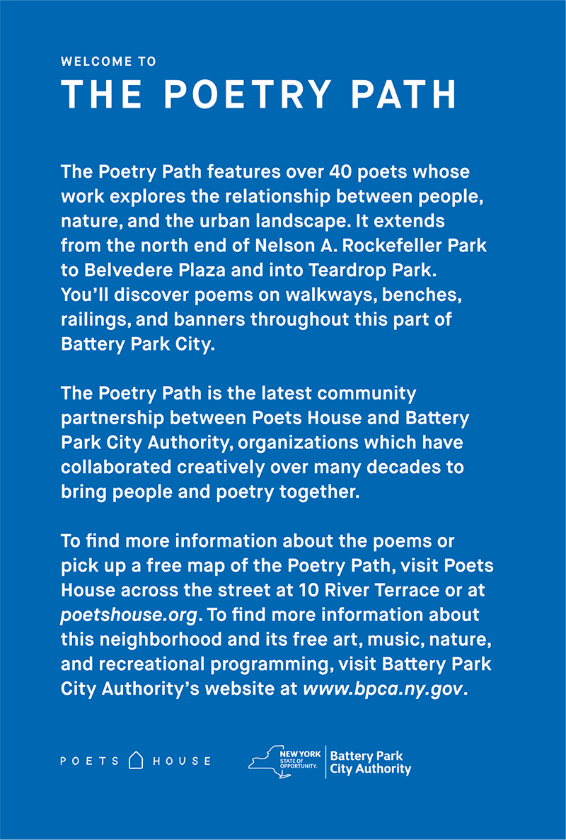 Welcome Poetry Path!
