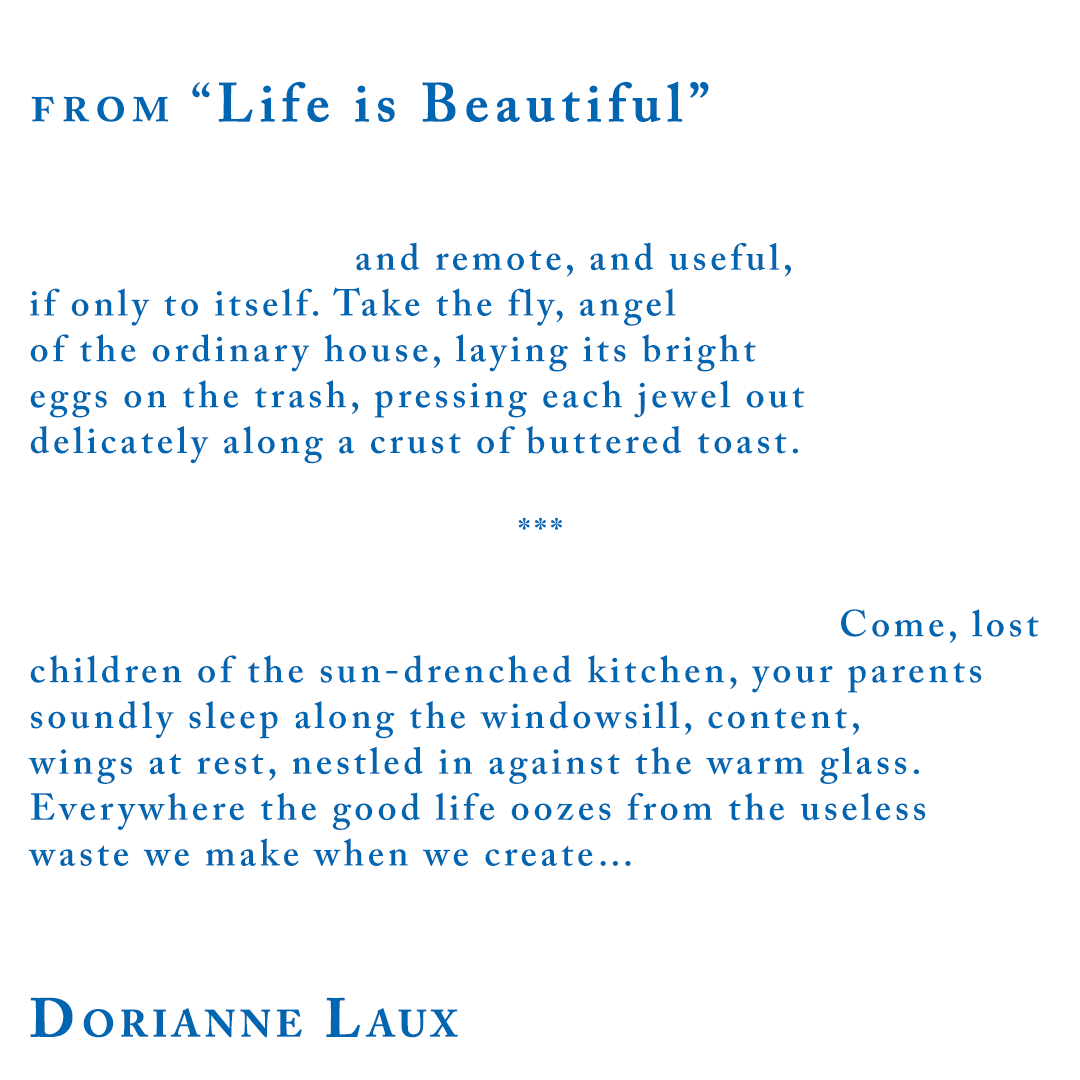 """Dorianne Laux from """"Life is Beautiful"""""""