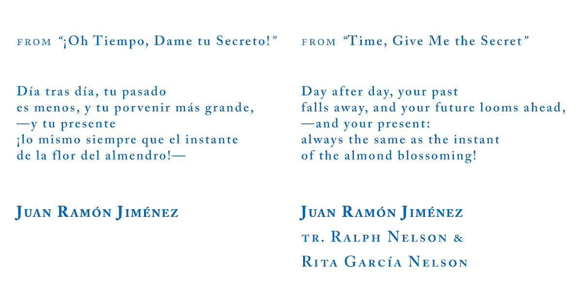 Juan Ramón Jiménez from Time Give Me the Secret