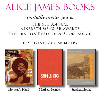 Alice James Books, Poetry Reading, Poetry NYC