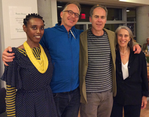 Lenelle Moïse, Spencer Reece, Jeffrey Harrison, and Joan Larkin