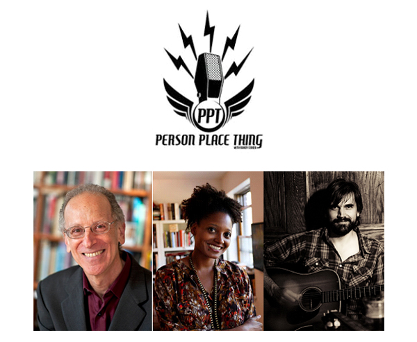 Person Place Thing logo, Randy Cohen, Tracy K. Smith, Jefferson Hamer