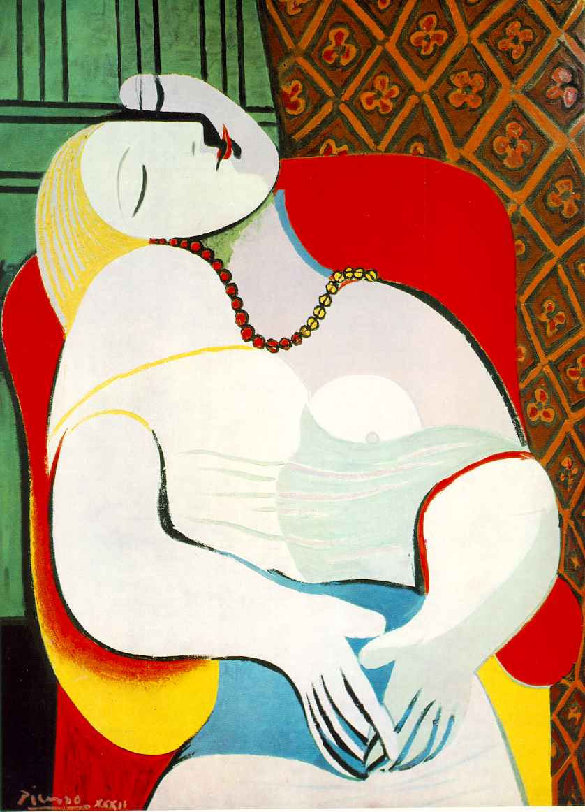 Picasso painting: The Dream, Poetry events, Poetry NYC