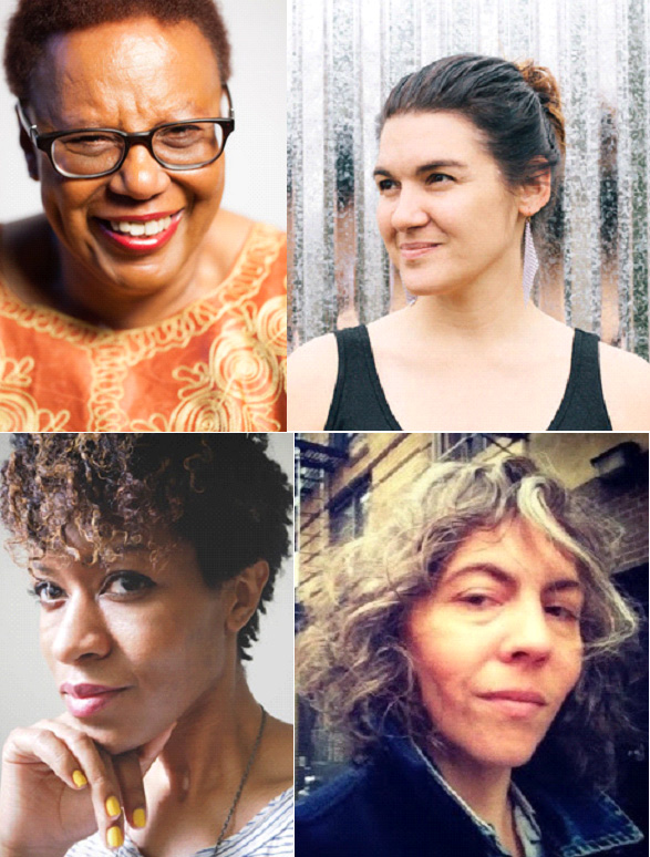 Patricia Spears Jones, Alicia Jo Rabins, Camille Rankine, and Stacy Szymaszek