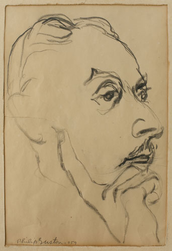 Portrait of Stanley Kunitz by Philip Guston